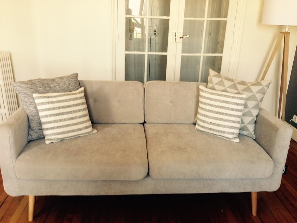 canap fixe york 3 places style vintage scandinave gris clair luckyfind. Black Bedroom Furniture Sets. Home Design Ideas