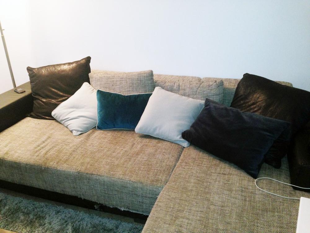 Canapé d angle pas cher mod¨le Toast d angle tissu et simili cuir