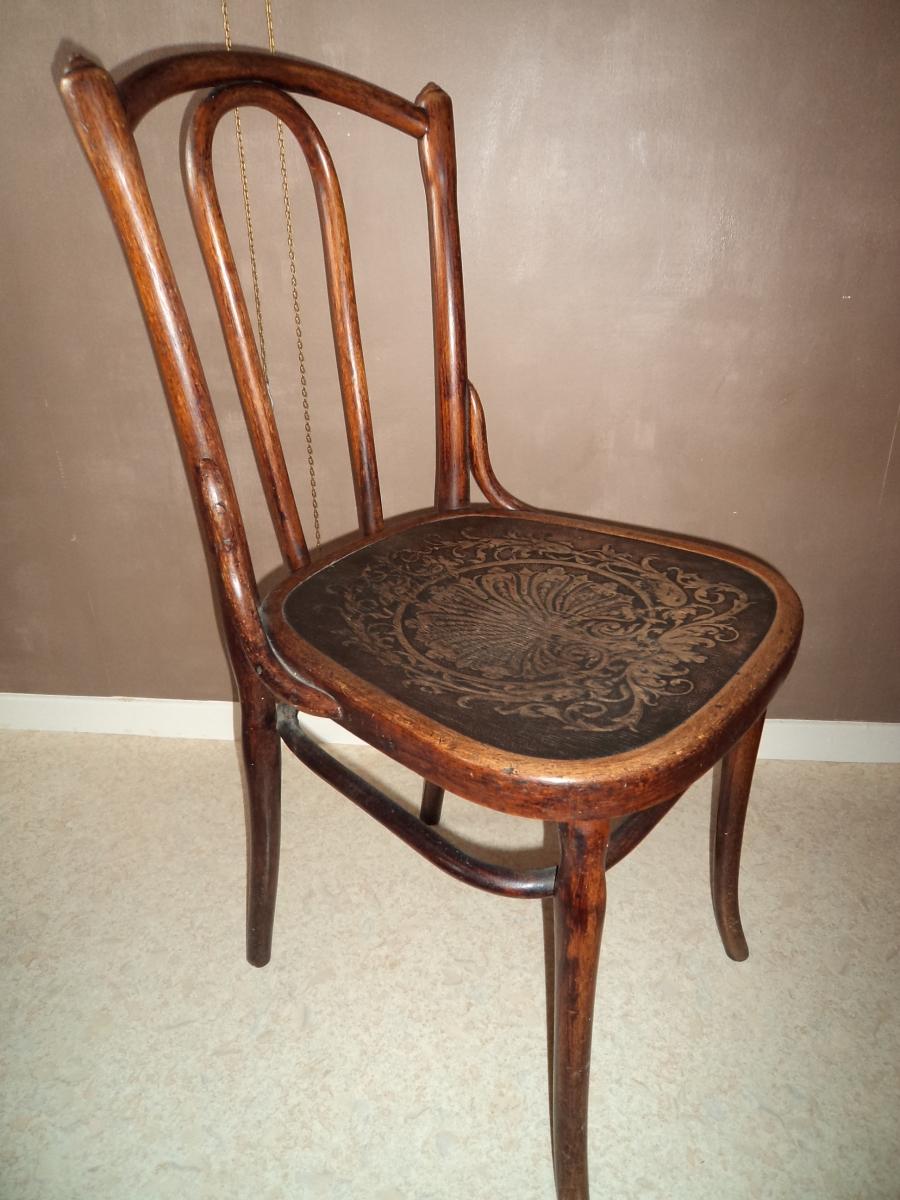 Jolie chaise ancienne poque 1895 1910 jacob et josef kohn luckyfind - Chaise escabeau ancienne ...