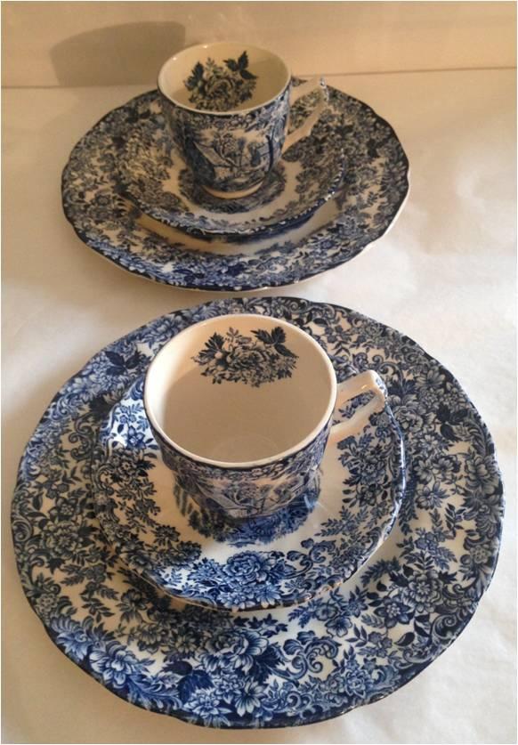 Caf gourmand porcelaine anglaise luckyfind - Service cafe gourmand ardoise ...