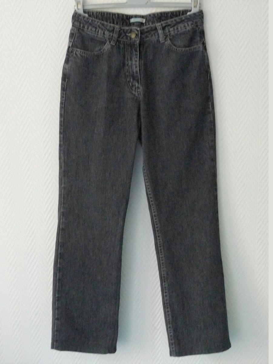 jean en 100 coton gris anthracite taille 38 la redoute luckyfind. Black Bedroom Furniture Sets. Home Design Ideas