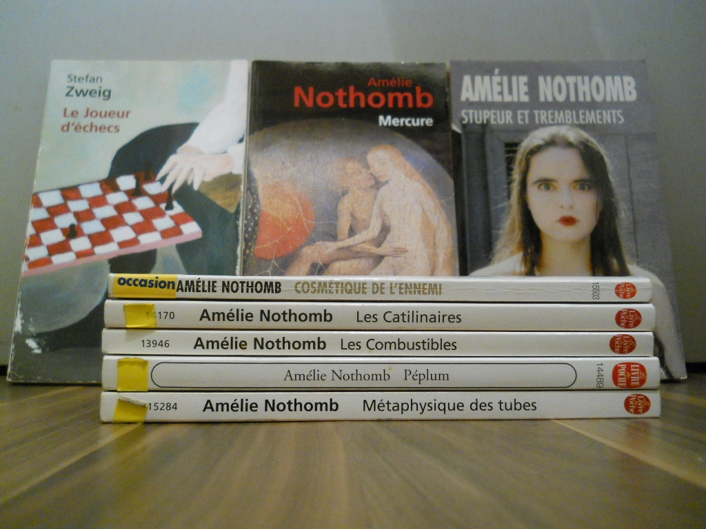 collection de 8 livres d 39 am lie nothomb pas cher luckyfind. Black Bedroom Furniture Sets. Home Design Ideas