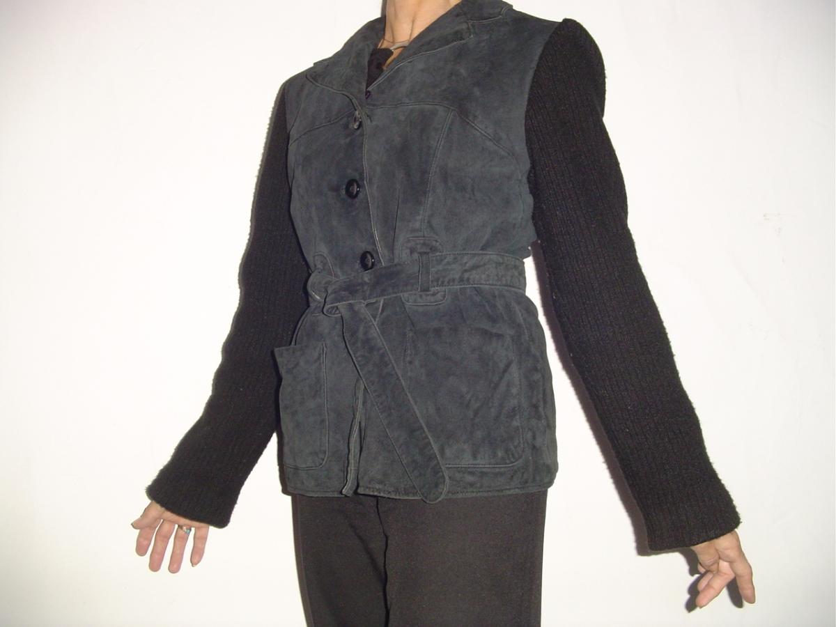 veste vintage cuir acrylique ren derhy 38 40 luckyfind. Black Bedroom Furniture Sets. Home Design Ideas