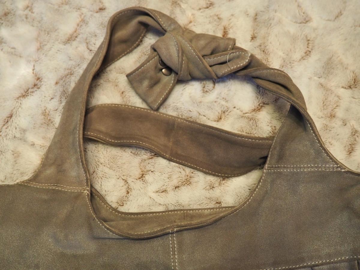 Sac comptoir des cotonniers cuir gris iris luckyfind - Cuir comptoir des cotonniers ...