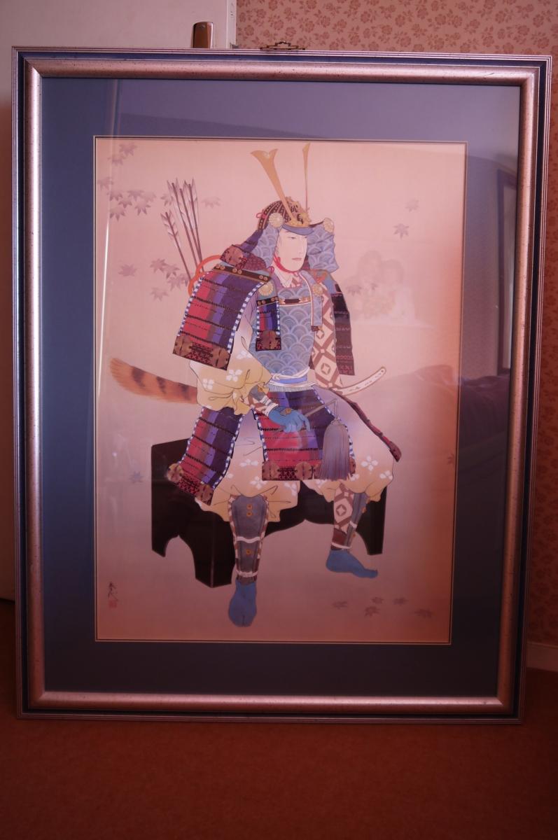 tableau samourai japonais cadre d coration maison luckyfind. Black Bedroom Furniture Sets. Home Design Ideas