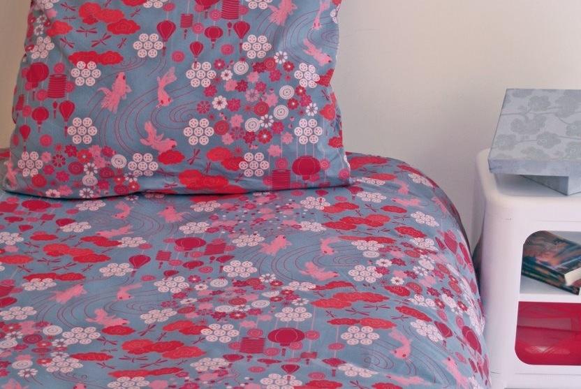 Housse de couette cr ateur agreable percale de coton for Canape d angle 200x200