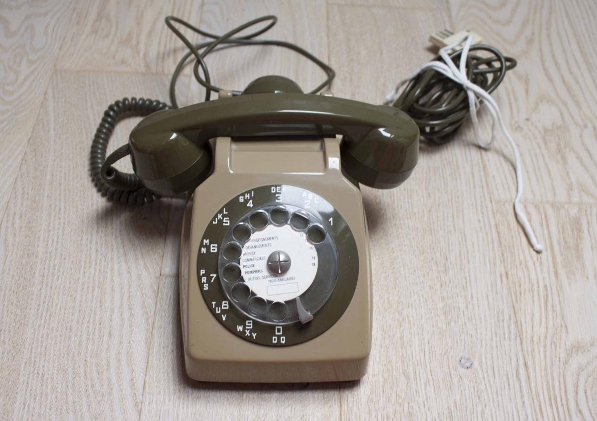 t l phone fixe cadran vintage de 1974 luckyfind. Black Bedroom Furniture Sets. Home Design Ideas