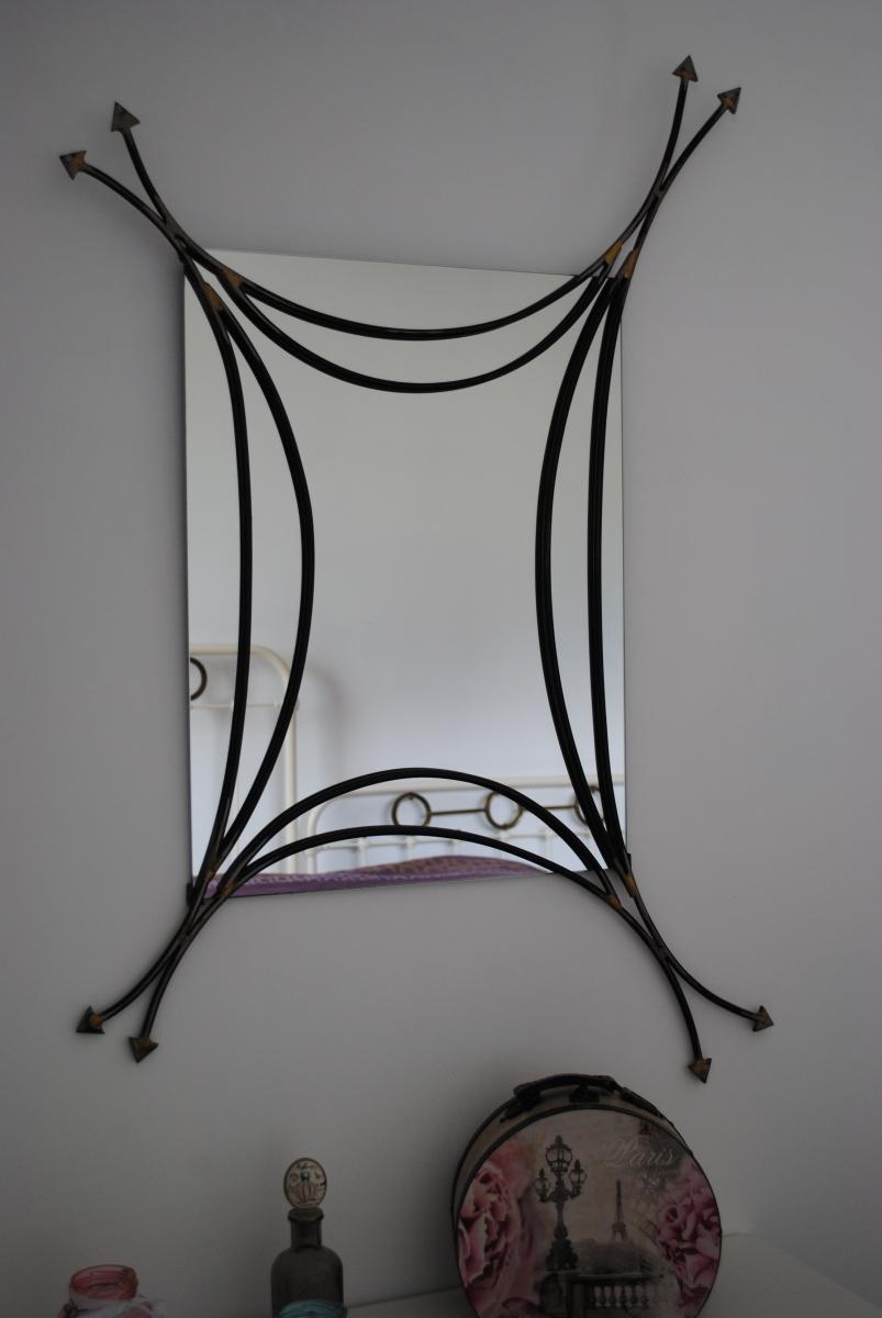 Miroir fer artisan d 39 art luckyfind for Miroir artisanal