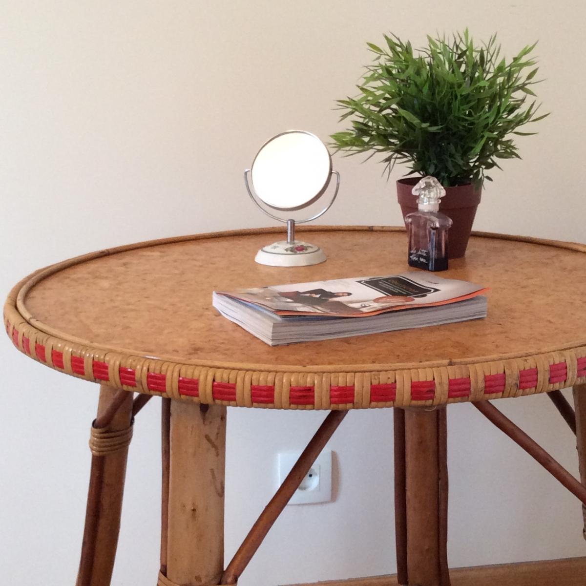 table d 39 appoint en rotin luckyfind. Black Bedroom Furniture Sets. Home Design Ideas