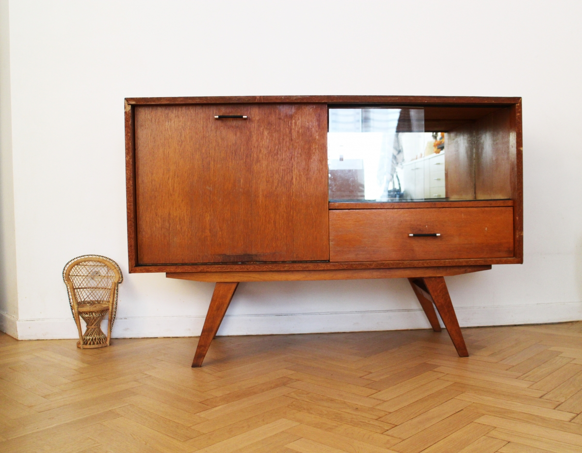 Enfilade Scandinave Vintage Ann Es 70 Pas Cher Luckyfind # Meuble Tv Vintage Scandinave Pas Cher