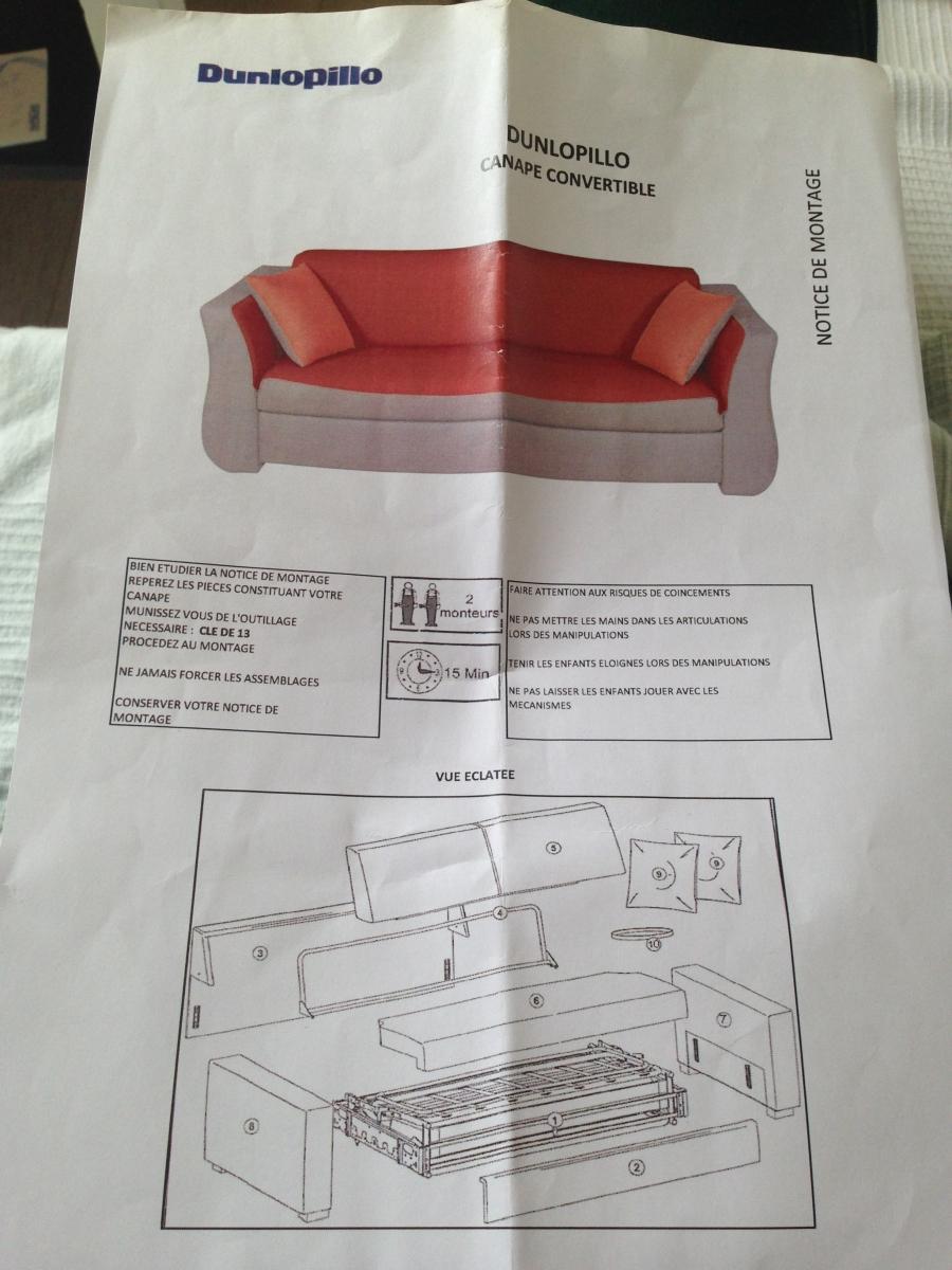 canap lit dunlopillo luckyfind. Black Bedroom Furniture Sets. Home Design Ideas