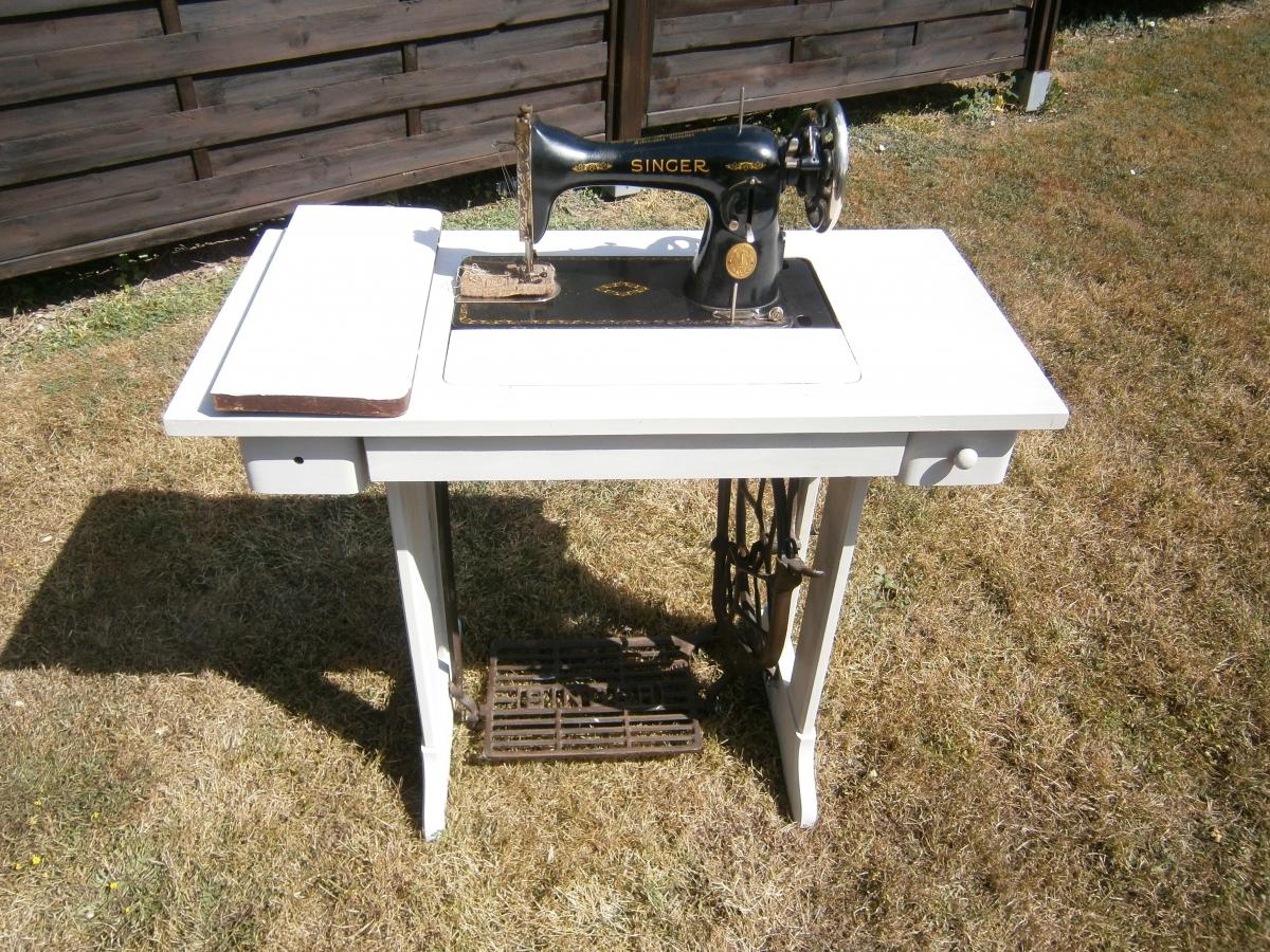 Meuble Machine A Coudre Singer Vintage