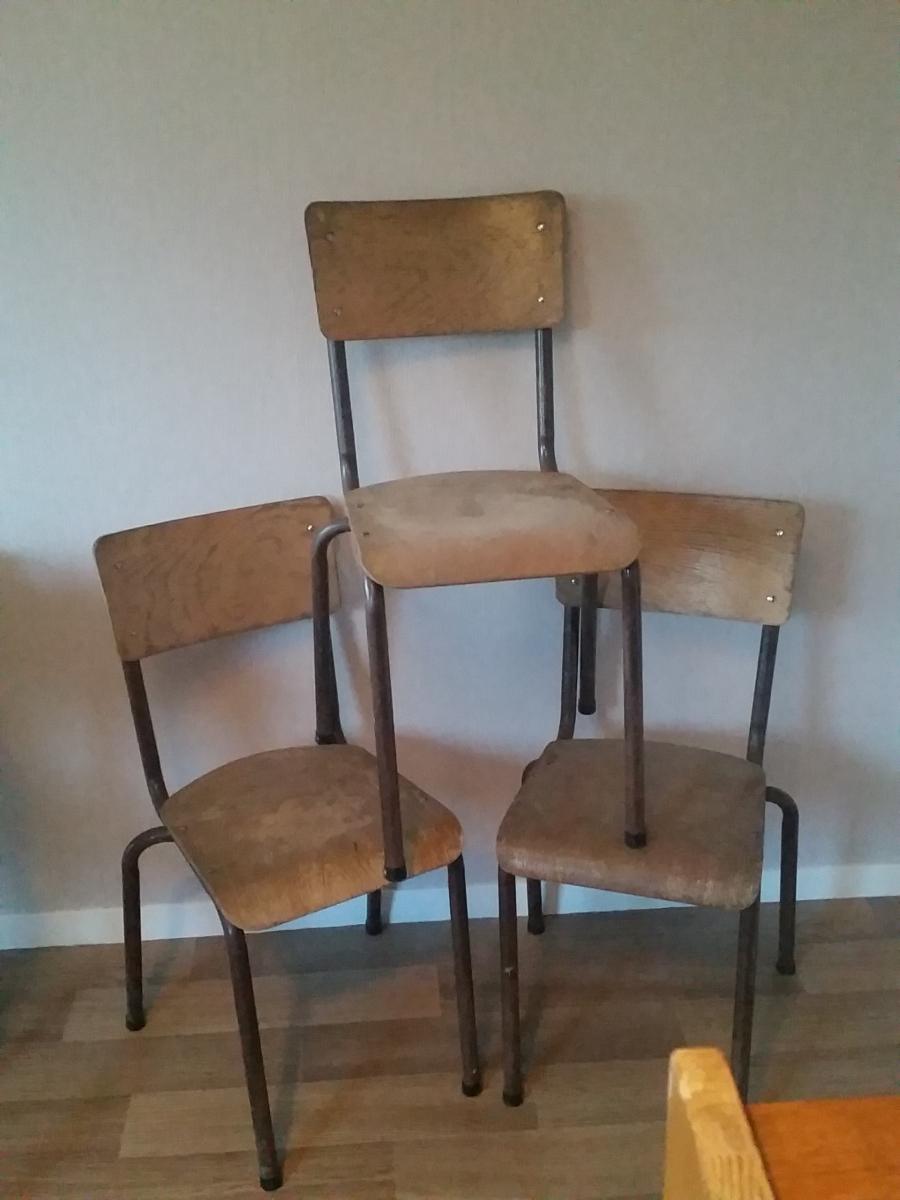 Chaise d 39 colier vintage luckyfind - Chaise d ecolier vintage ...