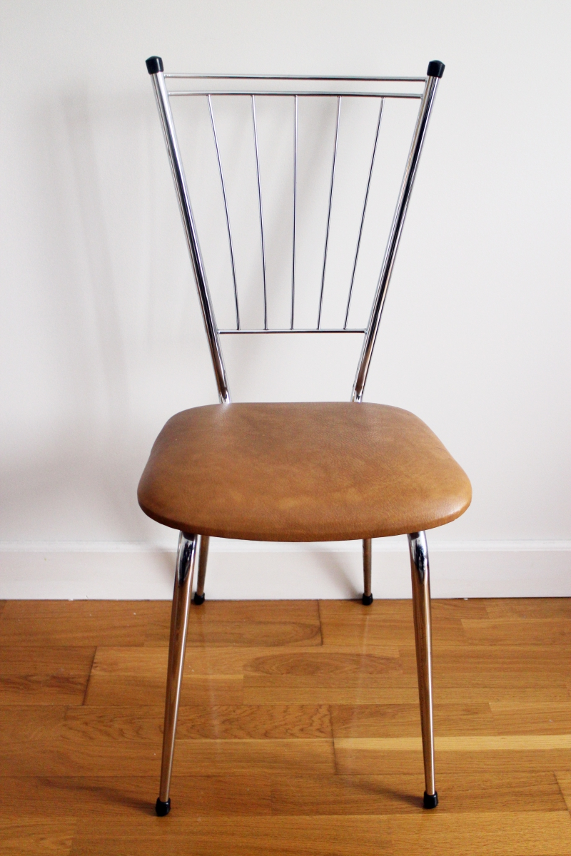 chaise scandinave m tal ann es 70 luckyfind. Black Bedroom Furniture Sets. Home Design Ideas