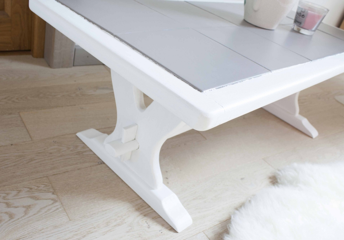 Table basse carrelage et bois - Luckyfind