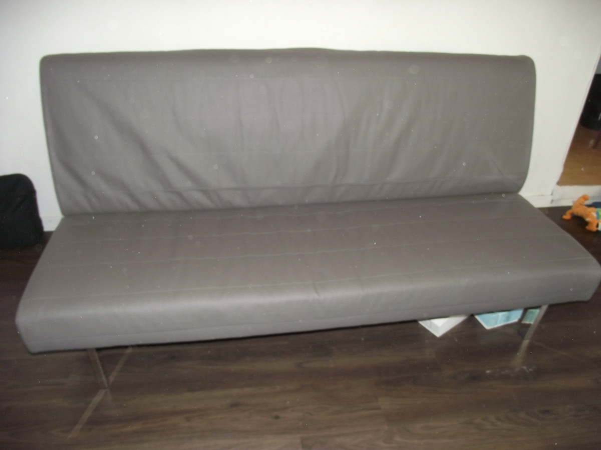 clic clac simili cuir r versible blanc gris conforama luckyfind. Black Bedroom Furniture Sets. Home Design Ideas