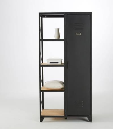 armoire neuve industrielle vintage luckyfind. Black Bedroom Furniture Sets. Home Design Ideas
