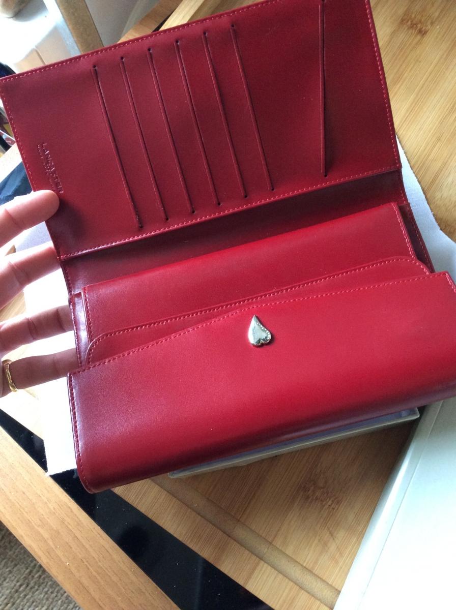 Portefeuille compagnon Lancaster rouge – Luckyfind 82851b53174