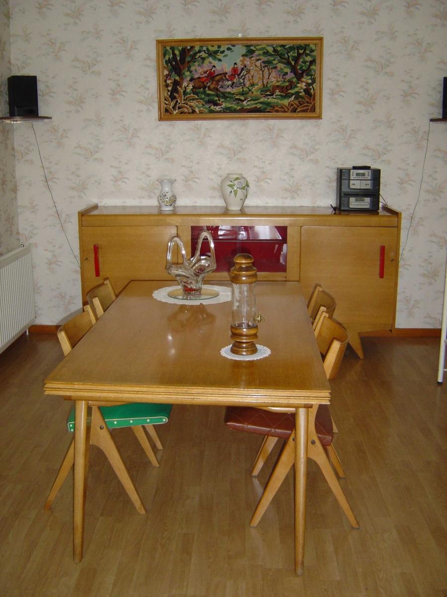 salle manger en ch ne des ann es 1960 luckyfind