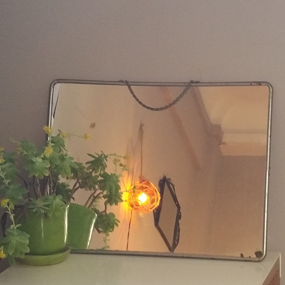 grand miroir de barbier avec chainette luckyfind. Black Bedroom Furniture Sets. Home Design Ideas