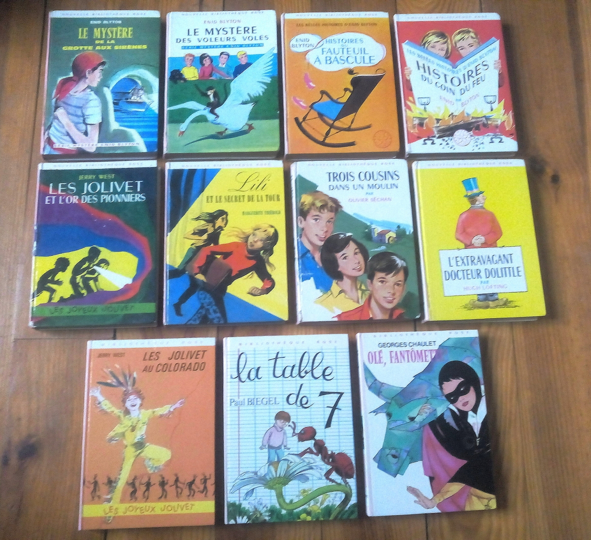 11 Volumes De Nouvelle Bibliotheque Rose Et Bibliotheque Rose Annees 60 70