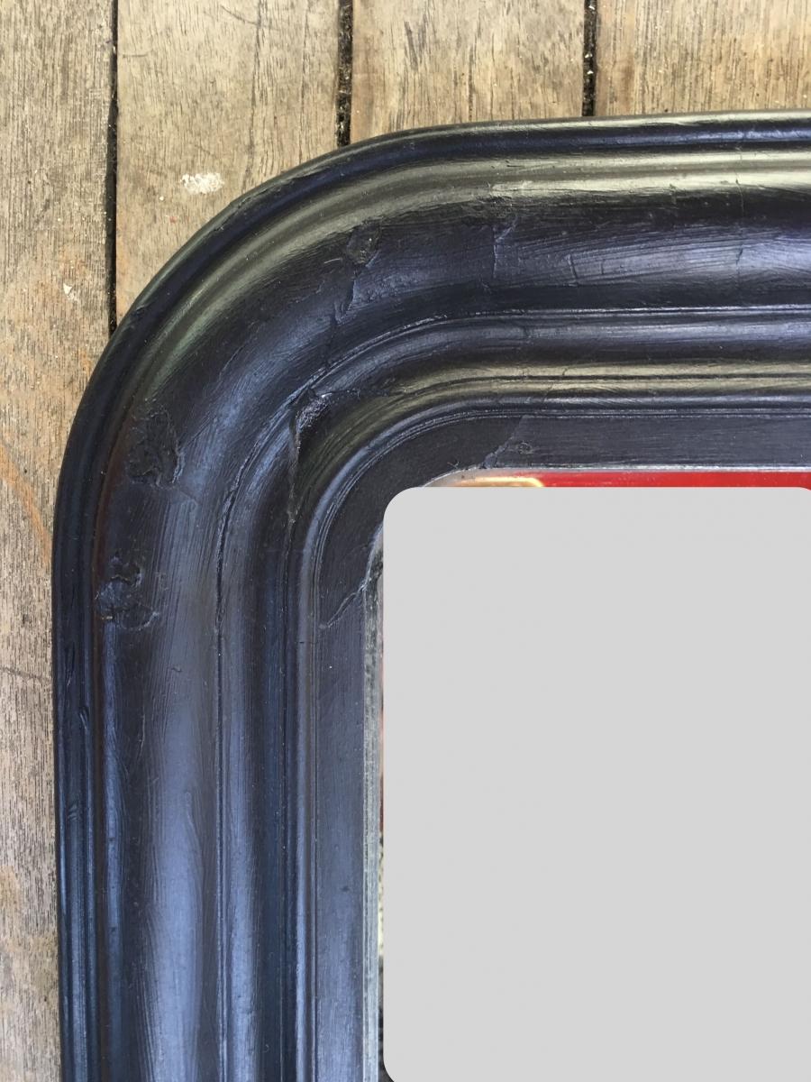 miroir louis philippe 19e si cle patine noire luckyfind. Black Bedroom Furniture Sets. Home Design Ideas