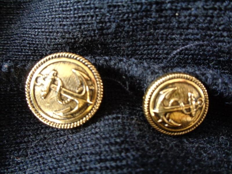 ... Long Gilet Authentique Marin Breton Vintage boutons marins et blason T38 ebc34312adbe