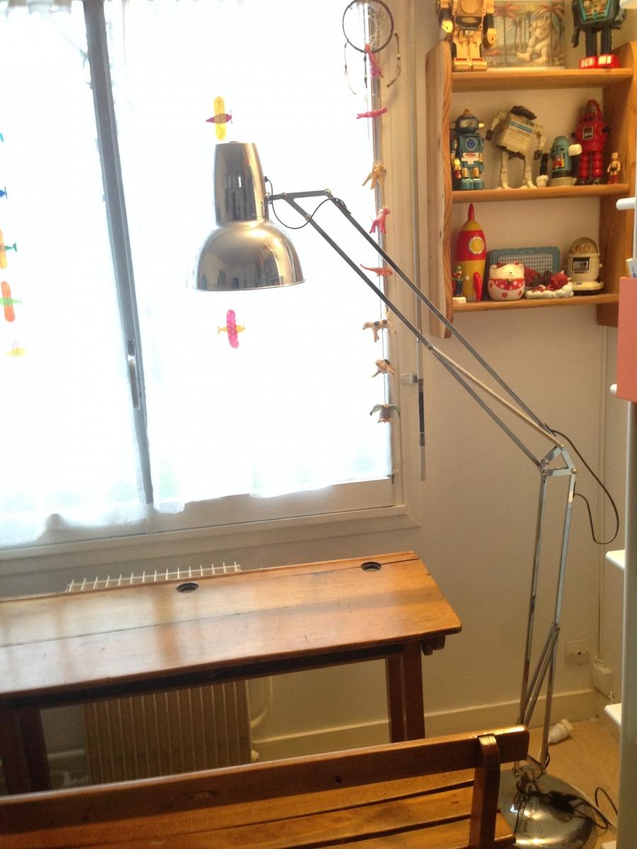 luminaire lampadaire sur pied style architecte luckyfind. Black Bedroom Furniture Sets. Home Design Ideas