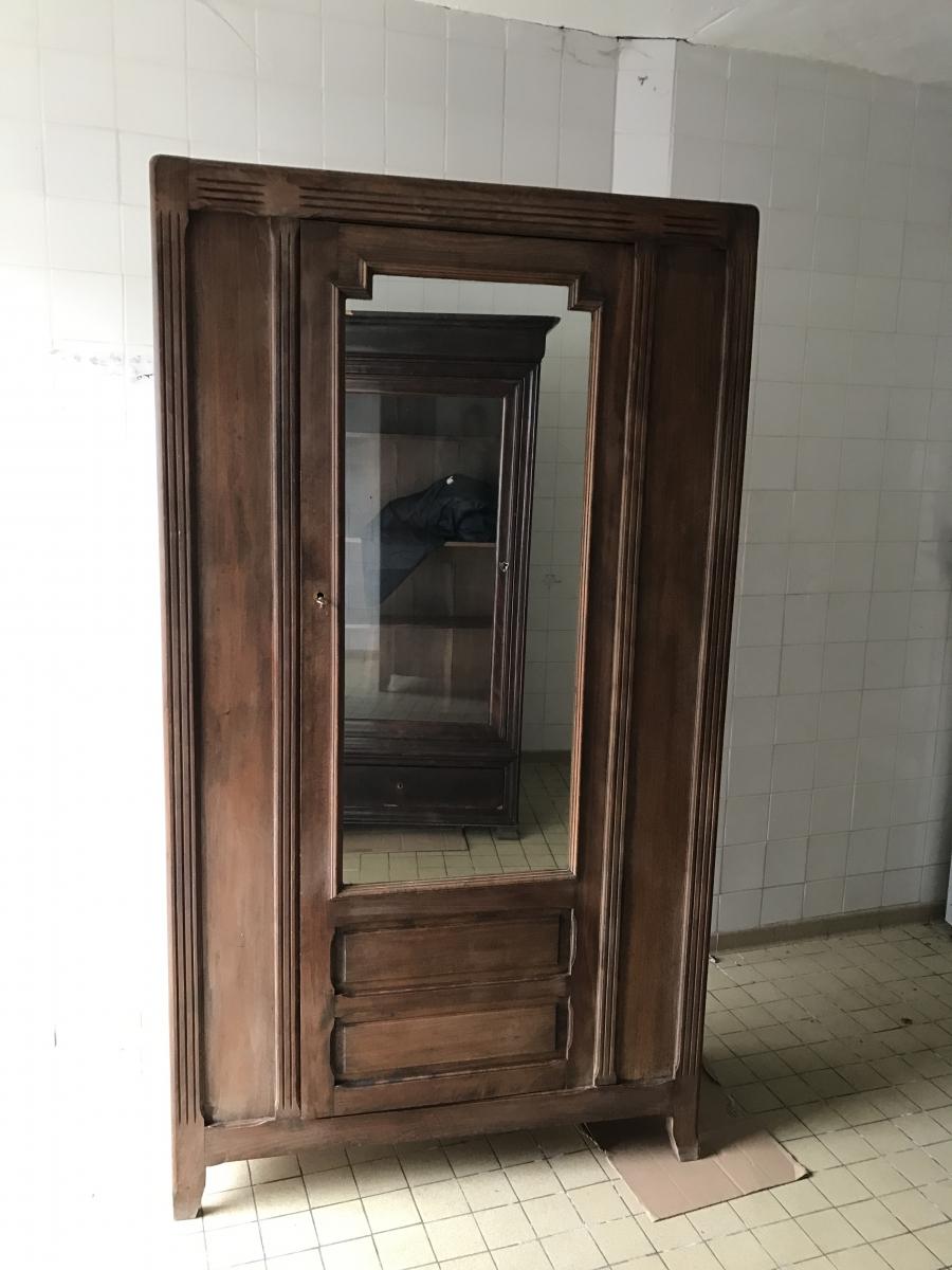 armoire ancienne avec miroir luckyfind. Black Bedroom Furniture Sets. Home Design Ideas