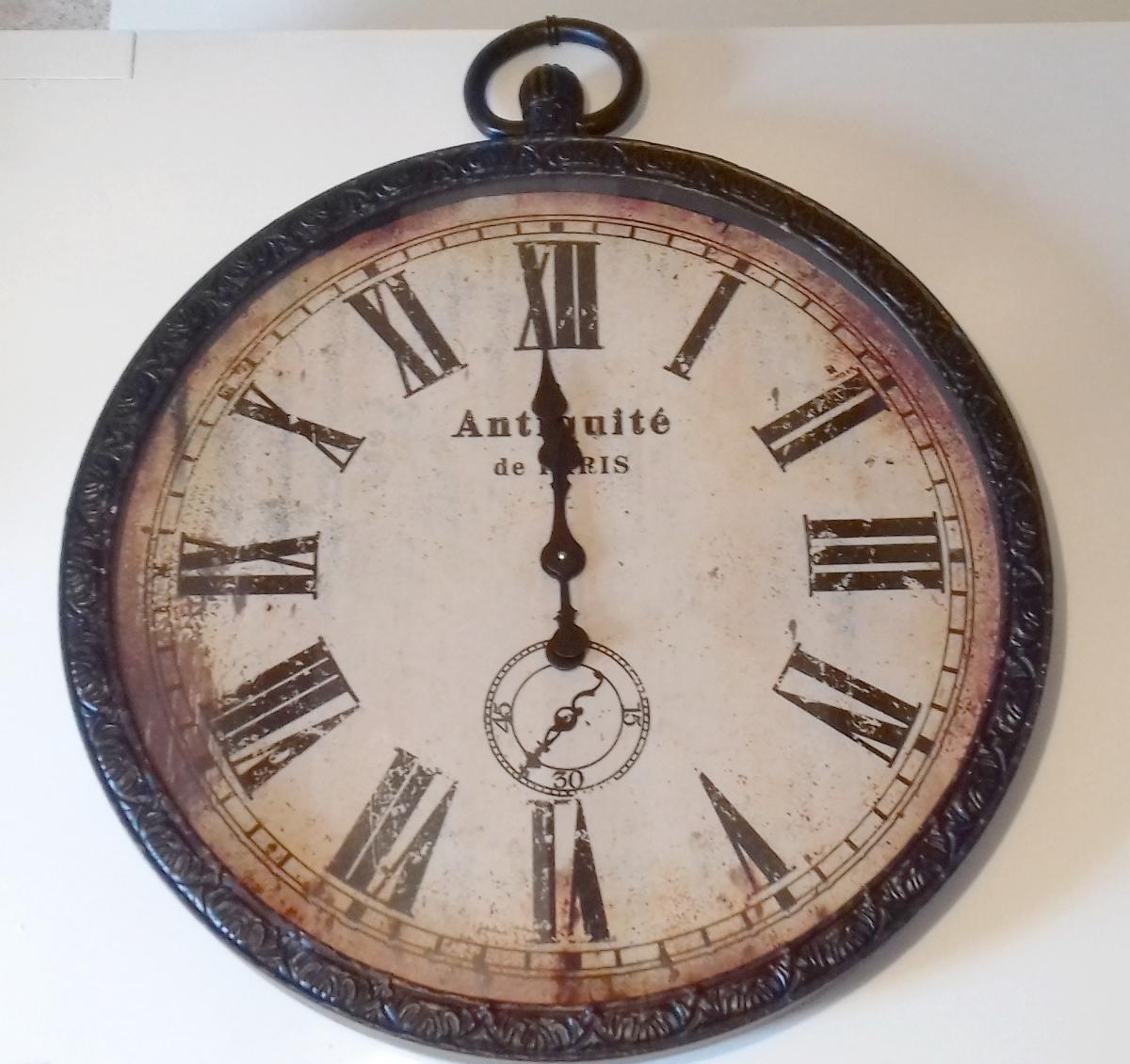 Horloge murale montre gousset luckyfind - Horloge gousset murale ...