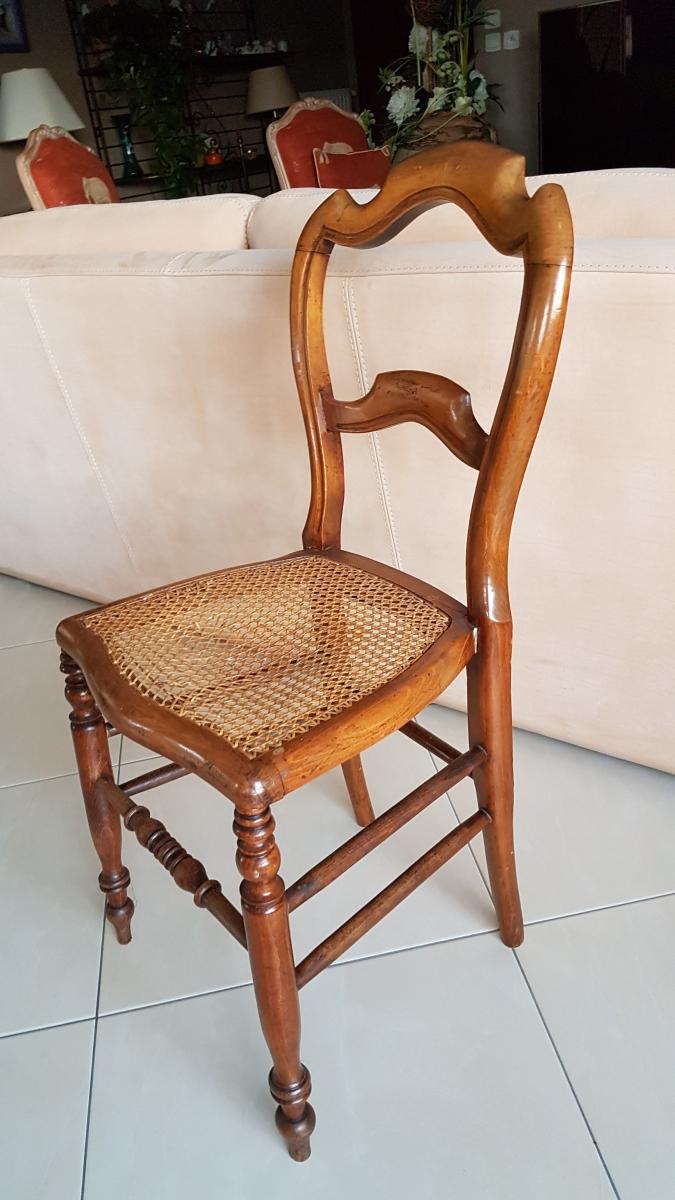 2 chaises a cannage bois de hetre luckyfind for Cannage de chaise technique