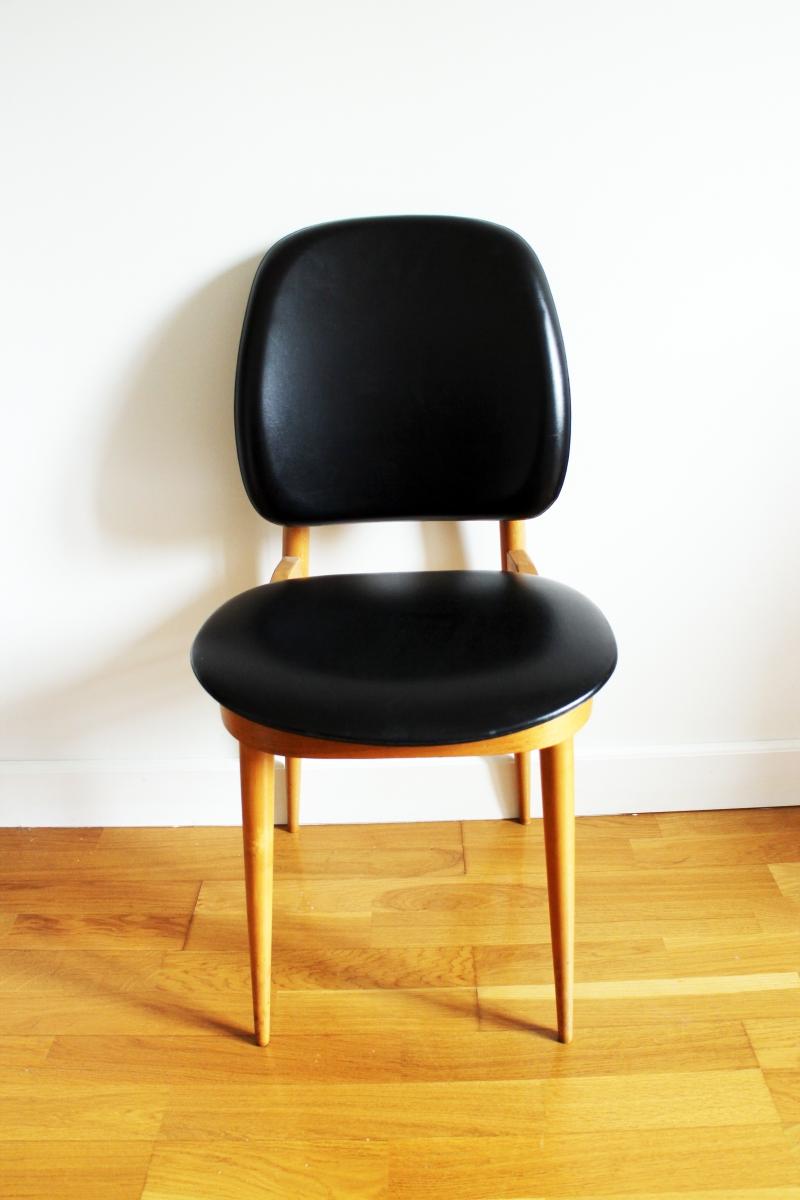 chaise pierre guariche vintage ann es 50 luckyfind. Black Bedroom Furniture Sets. Home Design Ideas