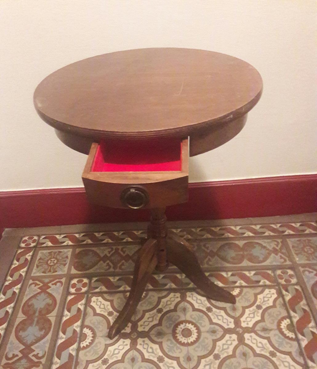 table gigogne vintage ann es 50 luckyfind. Black Bedroom Furniture Sets. Home Design Ideas
