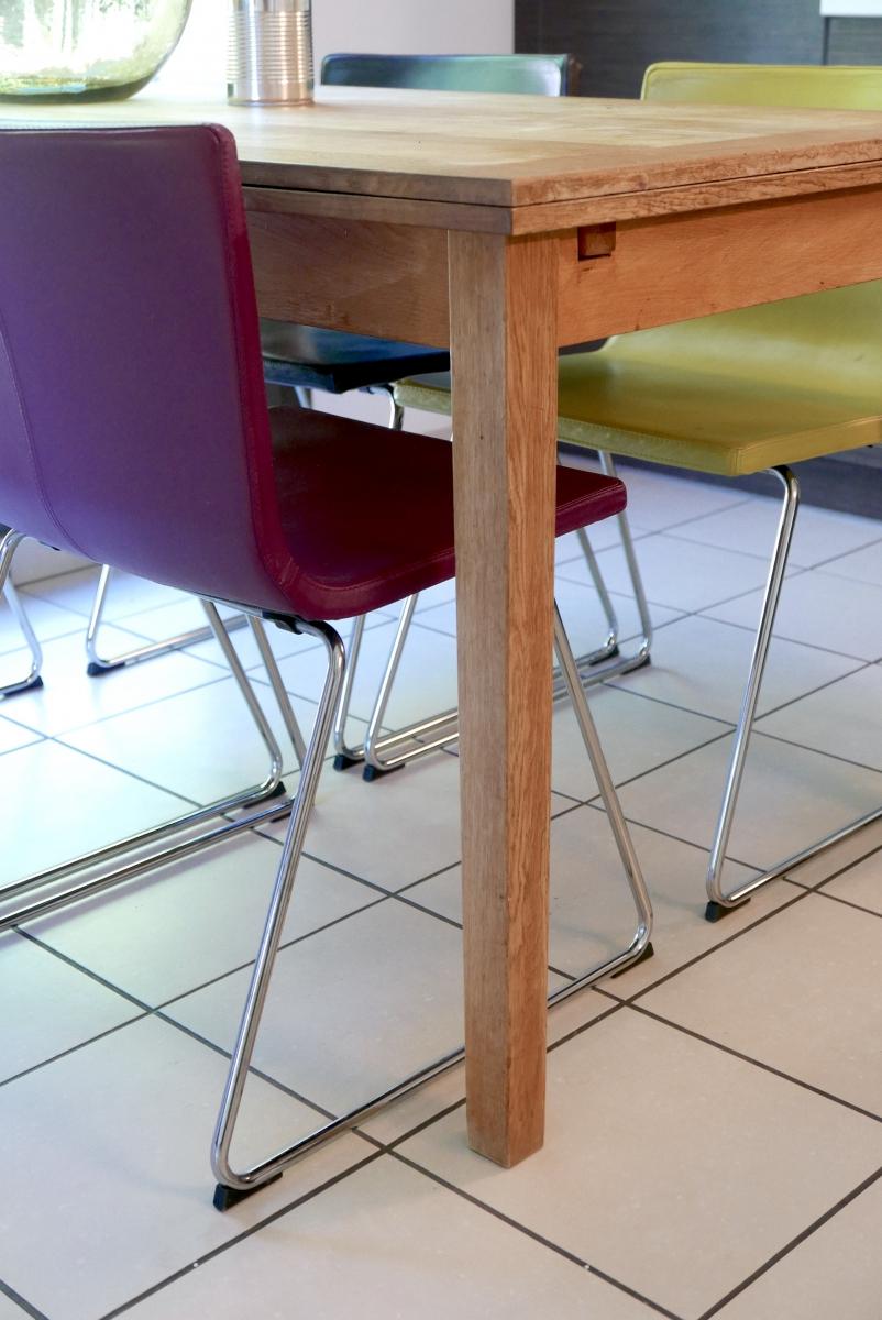 Chaise design en cuir violet luckyfind for Chaise en cuir design