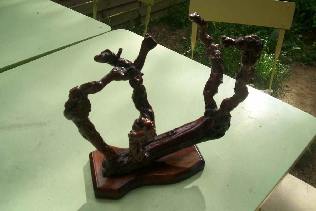 Porte Vin De Table En Bois De Cep De Vigne Luckyfind