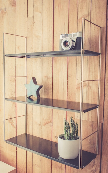 Etag re m tallique vintage type tomado luckyfind - Etagere metallique modulable ...