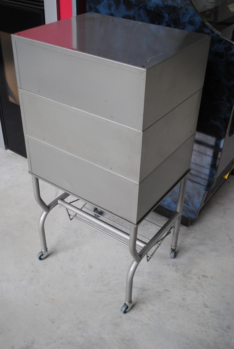 Meuble industriel 6 tiroirs sur roulettes luckyfind - Meuble informatique industriel ...