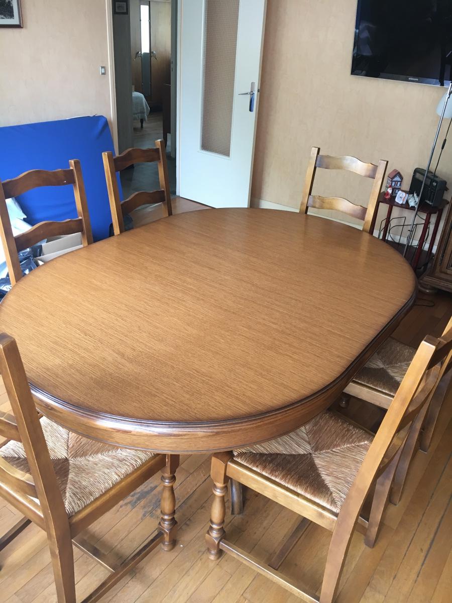table et 6 chaises luckyfind. Black Bedroom Furniture Sets. Home Design Ideas
