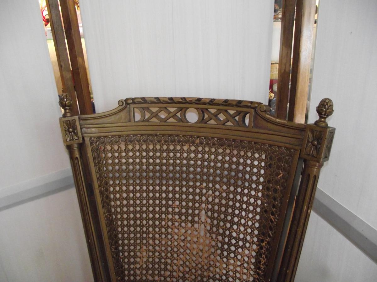 fauteuil de bureau dossier cannel style louis xvi luckyfind. Black Bedroom Furniture Sets. Home Design Ideas