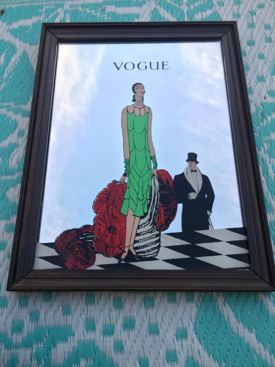 miroir vogue art d co tableau vintage cadre d co luckyfind. Black Bedroom Furniture Sets. Home Design Ideas