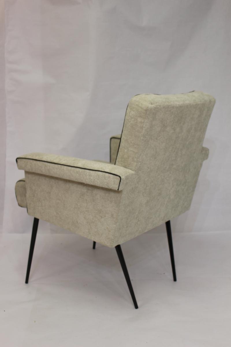 fauteuil vintage ann e 70 refait neuf luckyfind. Black Bedroom Furniture Sets. Home Design Ideas