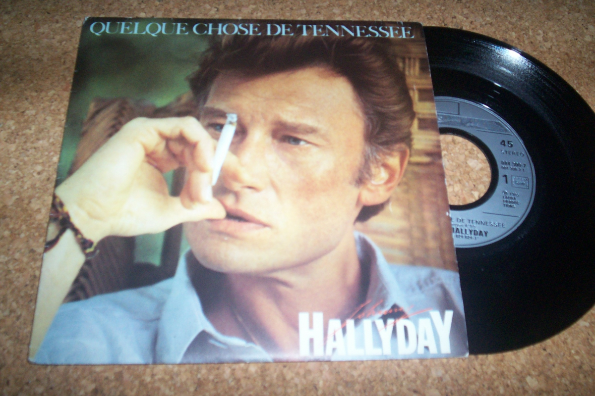 45 tours 2 titres johnny hallyday quelques chose de tennessee 1 luckyfind. Black Bedroom Furniture Sets. Home Design Ideas