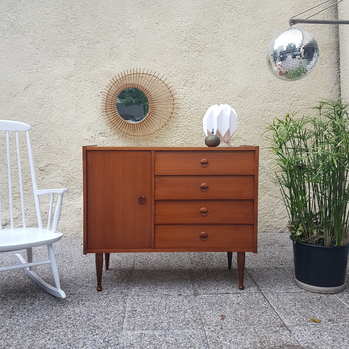 Commode enfilade meuble sous vasque vintage luckyfind for Retro meuble