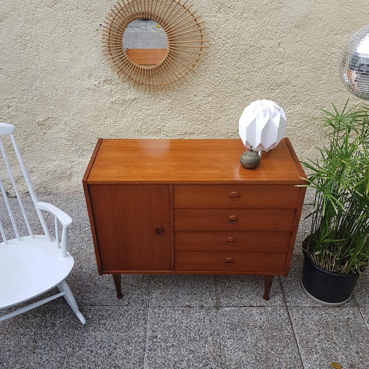 Commode enfilade meuble sous vasque vintage luckyfind for Enfilade meuble