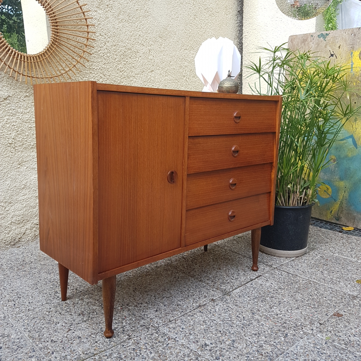 commode enfilade meuble sous vasque vintage luckyfind. Black Bedroom Furniture Sets. Home Design Ideas