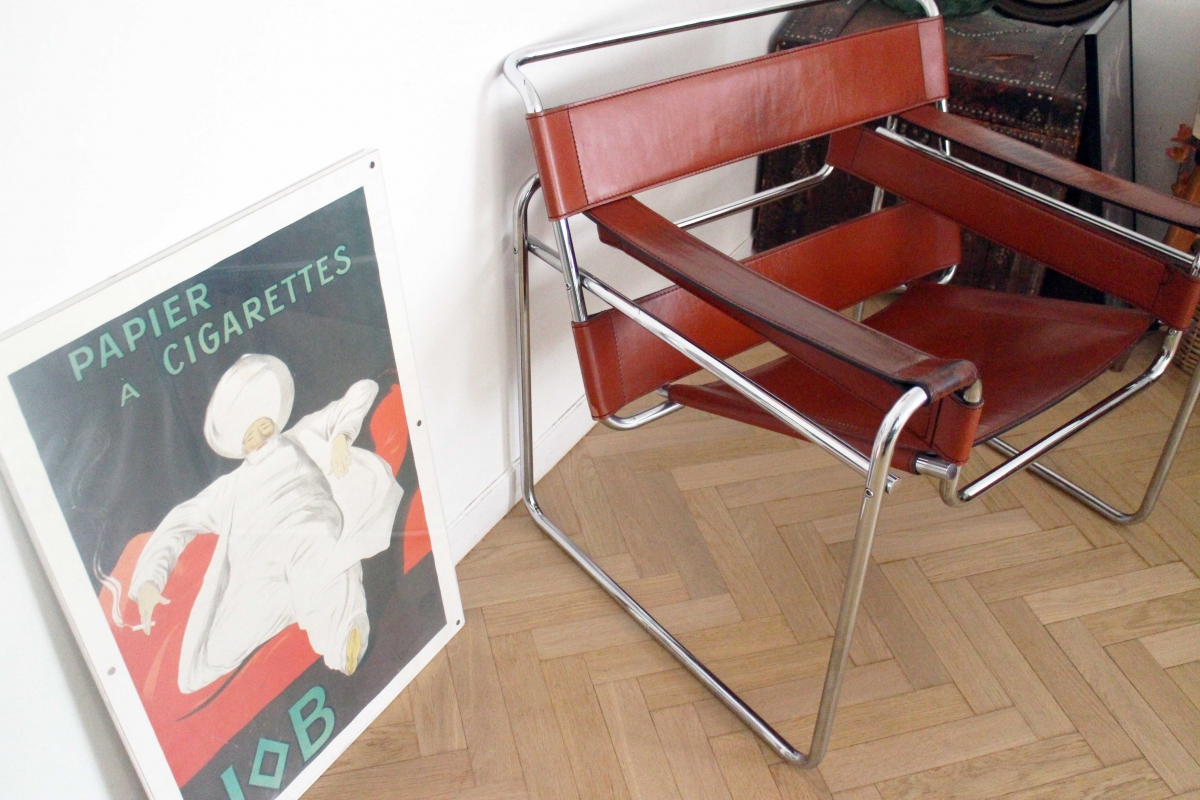 fauteuil original wassily b3 de marcel breuer luckyfind. Black Bedroom Furniture Sets. Home Design Ideas