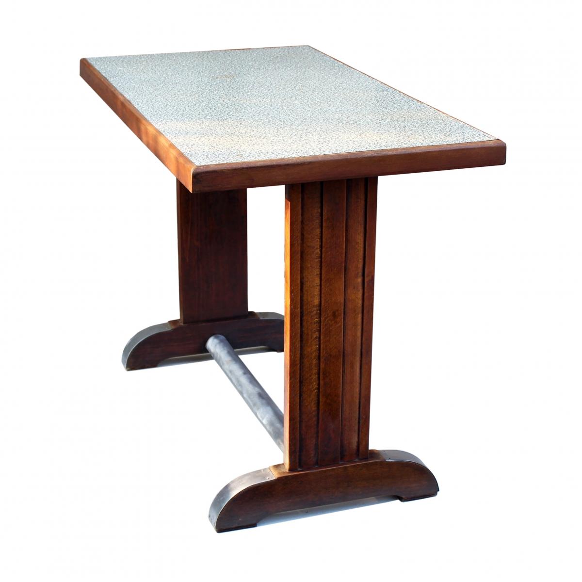 Table De Bistrot Francais Vintage Annees 40 Luckyfind