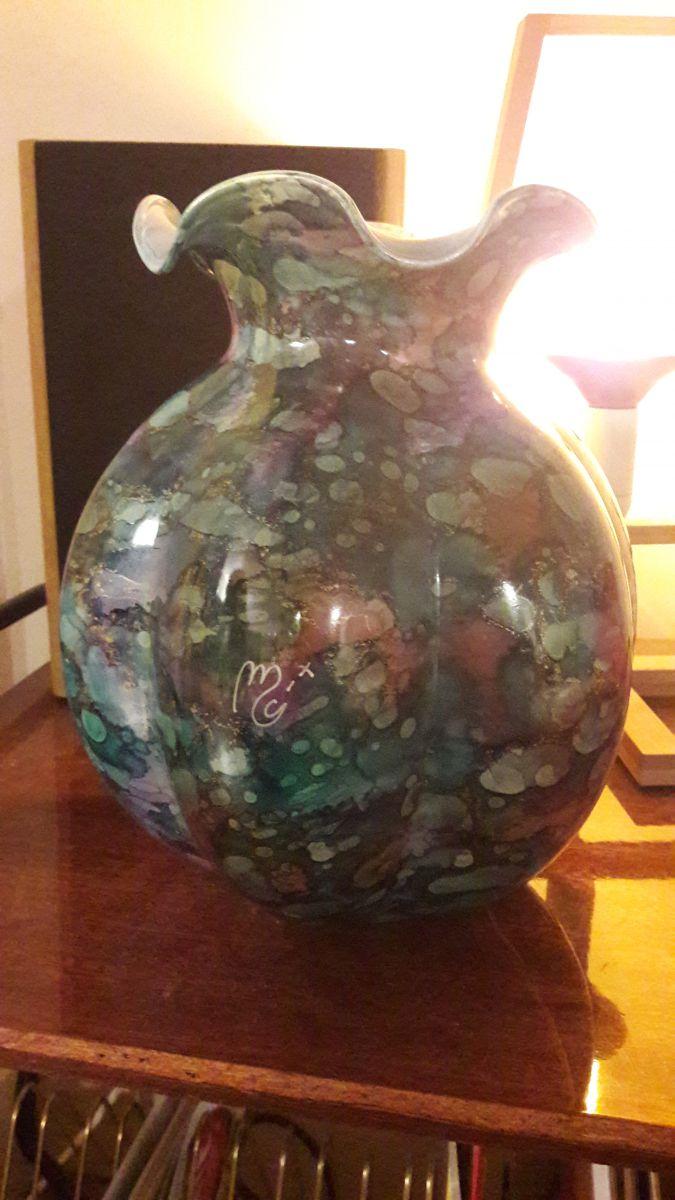 vase en verre maill luckyfind. Black Bedroom Furniture Sets. Home Design Ideas