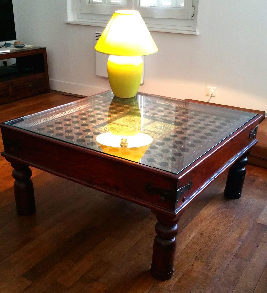 Table Basse Indienne Artisanale