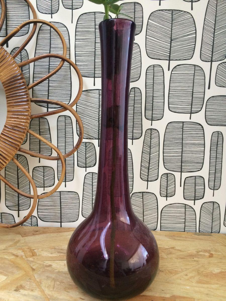 vase en verre souffl de biot luckyfind. Black Bedroom Furniture Sets. Home Design Ideas